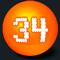 third Hot Lotto Number for 2/3/2016 is  34
